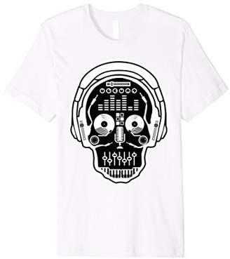 Jockey Sugarskull DJ Table Shirt   Skull Disc Headphones