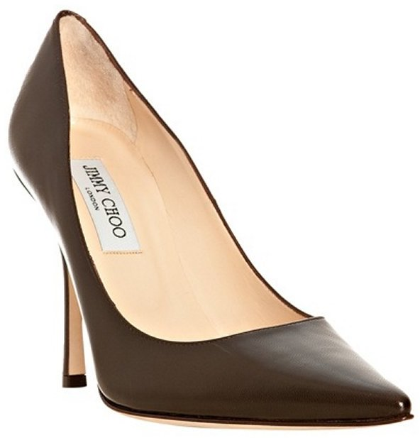 Jimmy Choo brown leather 'Lilac' pointed toe pumps