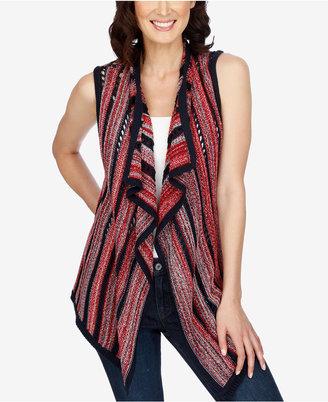 Lucky Brand American Striped Asymmetrical Vest $99 thestylecure.com