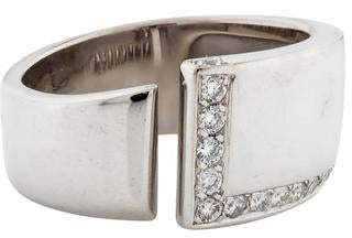 Hermes 18K Diamond Band