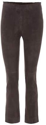 Stouls Maria Rosa cropped suede trousers