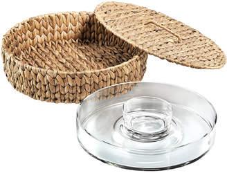 Artland Garden Terrace Chip N Dip Glass Platter