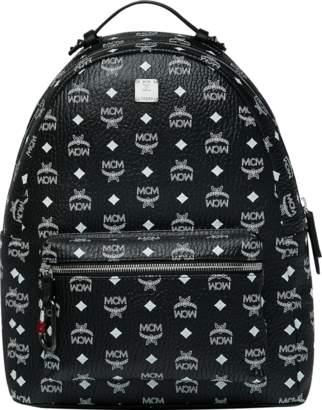 MCM Stark Backpack In White Logo Visetos