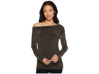 Karen Kane Knit Off the Shoulder Top Women's Clothing
