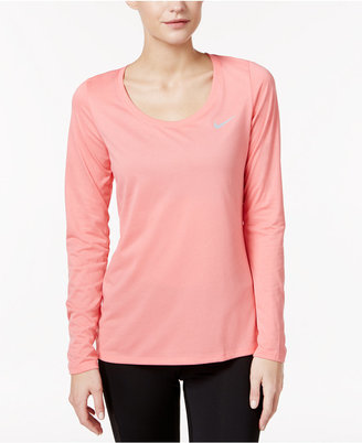 Nike Dry Legend Long Sleeve Training Top $30 thestylecure.com