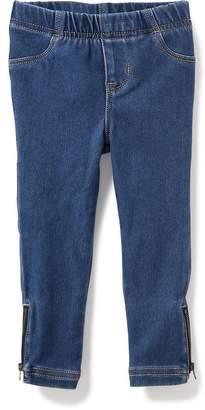 Old Navy Skinny Pull-On Moto Jeans for Toddler Girls