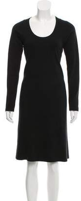 Maison Margiela Long Sleeve Scoop Neckline Dress