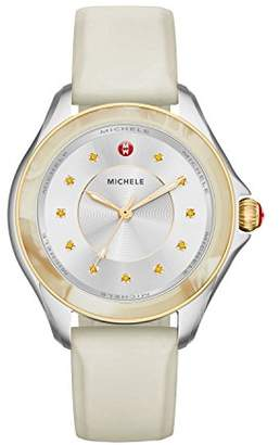 Michele Women's Cape Quartz Stainless Steel and Silicone Luxury Watch
