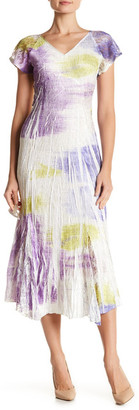 KOMAROV V-Neck Flutter Sleeve Dress $278 thestylecure.com