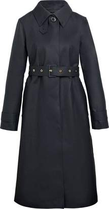 MACKINTOSH Black Bonded Wool Fly-Fronted Trench Coat LR-061
