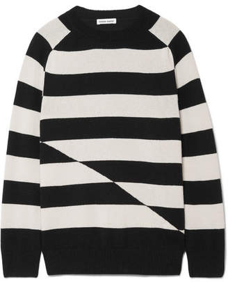 Tomas Maier Striped Cashmere Sweater - Black