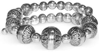 American West Filigree Bead Coil Bracelet in Sterling Silver