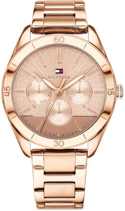 Tommy Hilfiger (トミー ヒルフィガー) - Tommy Hilfiger Women's Rose Gold-Tone Metal Bracelet Watch 40mm, Created for Macy's