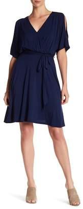 WEST KEI Peek Shoulder Wrap Dress