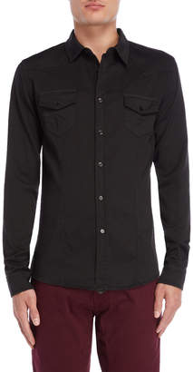 Imperial Star Black Clip Dot Pocket Shirt