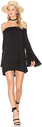 MLM Label Bronte Shoulder Dress in Black $187 thestylecure.com