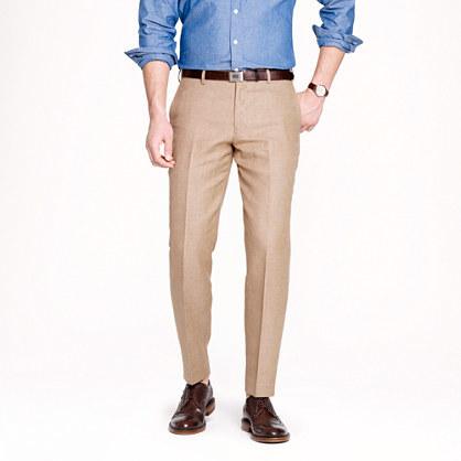 Ludlow slim suit pant in Italian linen-cotton