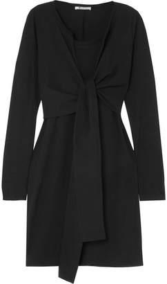 Alexander Wang Tie-front Cotton-jersey Mini Dress - Black