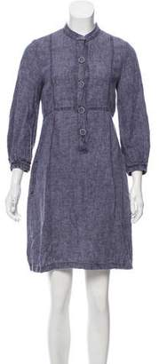 Cacharel Button-Accented Denim Dress