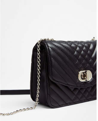 Express snake quilt crossbody bag