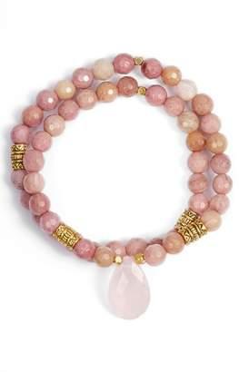 Inca Elise M. Double Stretch Stone Bracelet