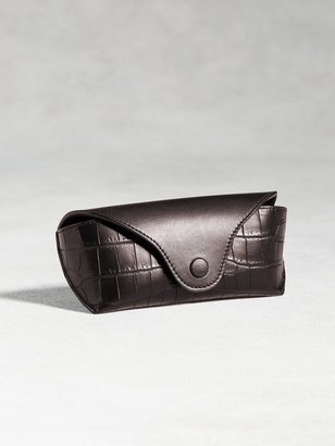 Calfskin Eyeglass Case With Crocodile Detail $698 thestylecure.com