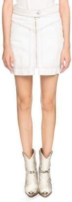 Etoile Isabel Marant Ioline Zip-Front Denim Short Skirt