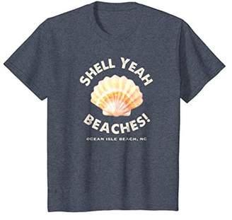 Ocean Isle Beach NC Shell Yeah Beaches! T-Shirt Summer Tee