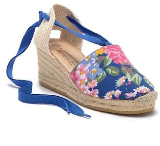 Eric Michael Valenciana Floral Espadrille Wedge