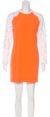 Christopher Kane Lace-Paneled Shift Dress
