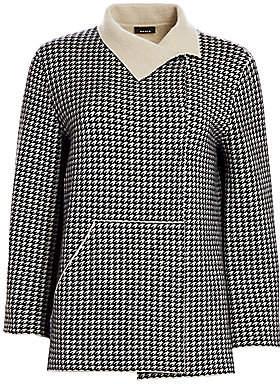 Akris Women's Reversible Cashmere Houndstooth Cardigan Jacket