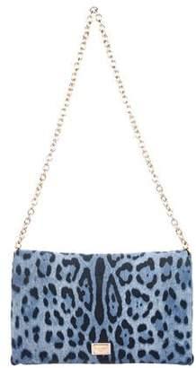 Dolce & Gabbana Miss Charles Denim Printed Bag