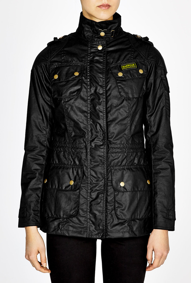 Barbour Black Speedway Waxed Jacket