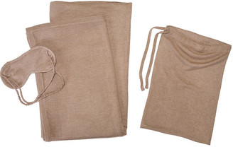 A & R Cashmere A&R Cashmere Cashmere-Blend Travel Set - Sand - a&R Cashmere