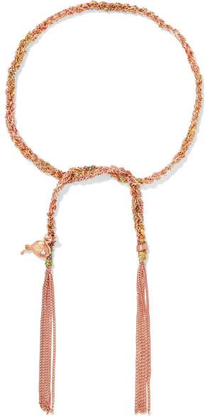 Carolina BucciCarolina Bucci - Celebration Lucky 18-karat Rose Gold, Diamond And Silk Bracelet - one size