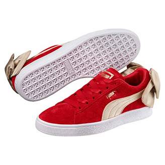 3c9fa3030edd Puma Women s Suede Bow Varsity Sneaker