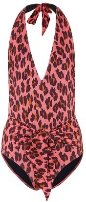 Stella McCartney Printed halter swimsuit
