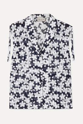 Paul & Joe Jsuzon Floral-print Cotton-gauze Top
