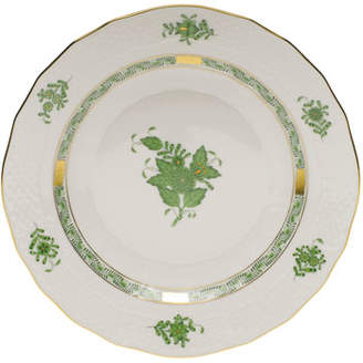 Herend Chinese Bouquet Green Dessert Plate