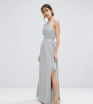 Little Mistress Lace Maxi Dress With Belt