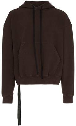 Unravel Project oversized terry cotton blend hoodie