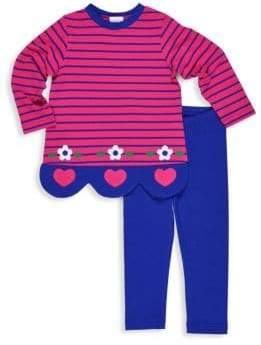 Florence Eiseman Little Girl's & Girl's Two-Piece Striped Top & Leggings Set
