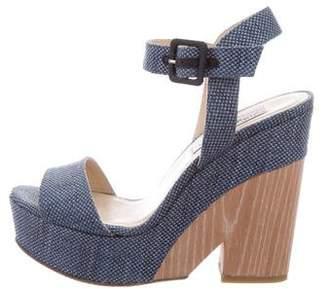 Jimmy Choo Woven Platform Sandals