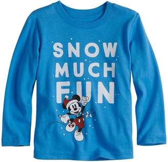 """Disneyjumping Beans Disney's Mickey Mouse Toddler Boy """"Snow Much Fun"""" Softest Graphic Tee by Jumping Beans"""
