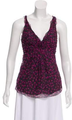 DKNY Heart Patterned Sleeveless Top