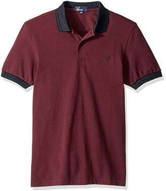 Fred Perry Men's Matt Tipped Collar Pique Shirt