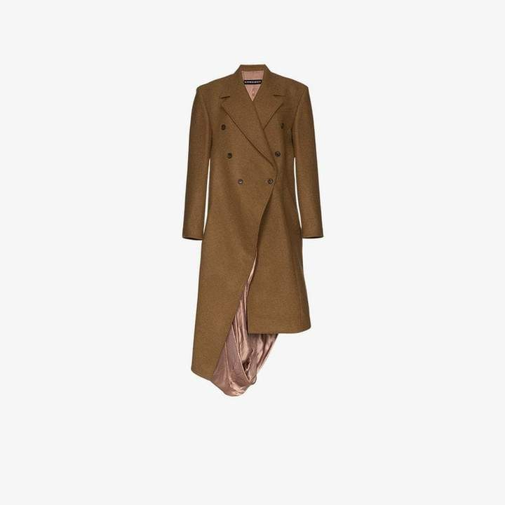 Y / Project asymmetric double breasted coat