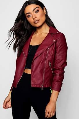boohoo Faux Leather Biker Jacket