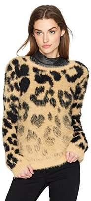 GUESS Women's Long Sleeve Carina Jacquard Sweater