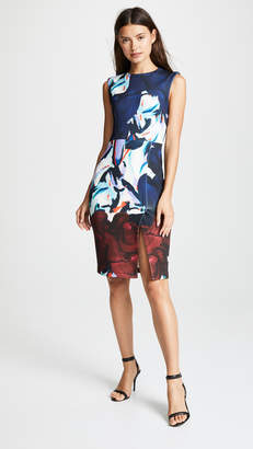 Yigal Azrouel Crew Neck Printed Dress